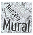 nursery wall murals Word Cloud Concept vector image vector image