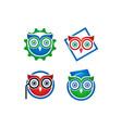 owl book logo vector image