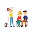 people in public transport set isolated vector image vector image