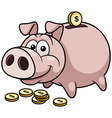 Pig bank vector image
