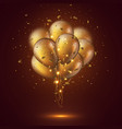 realistic 3d glossy golden balloons vector image