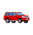 red realistic powerful suv car vector image