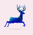reindeer jump blue vector image