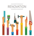 renovation and construction concept in modern vector image vector image