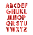 Retro font in pink Pink alphabet Realistic letters vector image vector image