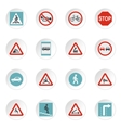 Road signs icons set flat style vector image vector image
