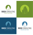rock consulting icon and logo vector image