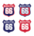 Route 66 highway sign vector image