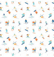 seamless pattern with adults and children in vector image vector image