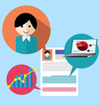 Search people job profile vector image vector image