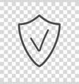 security assurance icon with tick sign guard vector image vector image