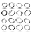 set of hand-drawn circles vector image vector image