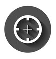shooting target icon in flat style aim sniper vector image vector image