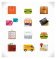 Shopping icon set vector | Price: 3 Credits (USD $3)