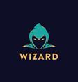 simple head wizard logo icon template vector image vector image