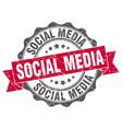 social media stamp sign seal vector image vector image