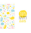toys happy kids banner template baproducts and vector image