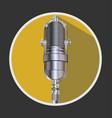 vintage silver microphone 1 vector image vector image