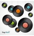 Vinyl Record Card vector image vector image
