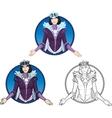 Winter Queen beautiful female character vector image