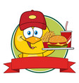 yellow chick cartoon character vector image vector image