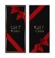 Black gift voucher templates vector image