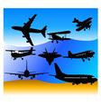 aeroplanes vs vector image