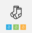 of relatives symbol on socks vector image
