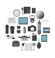 125photographers gear vector image vector image
