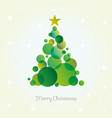 abstract christmas tree card made from green vector image vector image