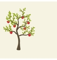 apple tree background vector image vector image