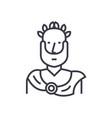 aristotle greek philosopher concept thin vector image