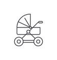baby stroller line icon concept baby stroller vector image