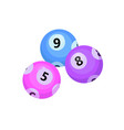 balls with lotto bingo numbers lottery numbered vector image
