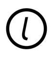 basic font letter l icon design vector image vector image