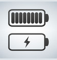 battery icon charge from high to low vector image vector image