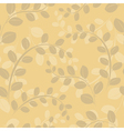 beige floral texture vector image vector image