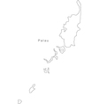 Black White Palau Outline Map vector image vector image