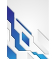 Blue white tech geometric background vector image vector image