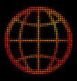 bright dot globe icon vector image vector image