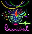 carnival venice neon vector image
