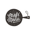 chefs menu cutting board wall decor poster vector image vector image