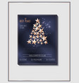 christmas poster template with tree vector image vector image