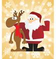 Christmas santa card vector image vector image