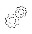 cogwheels outline icon vector image