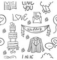 collection stock of wedding doodles style vector image vector image