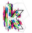 Colorful Font - Letter k vector image vector image