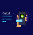 concept online shop conversation with chatbot vector image vector image
