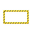 construction warning border isolated on white vector image vector image