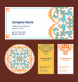 Corporative business cards design set and